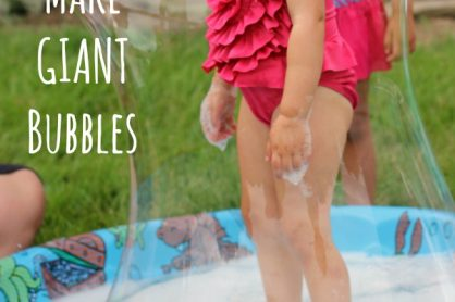 How to Make Giant Bubbles in a Kiddie Pool