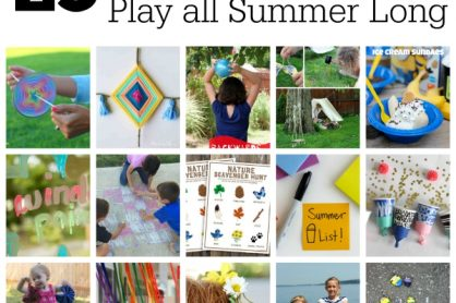25 Ideas to Get Out and Play all Summer Long
