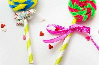 Pipe Cleaner Lollipops Kids Craft