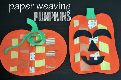 Paper weaving pumpkins