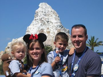 Disneyland Family at Matterhorn