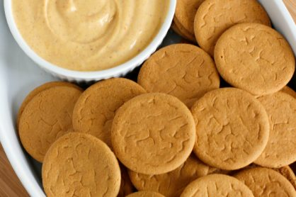 Recipe for Pumpkin Yogurt Dip with Ginger Cookies