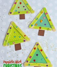 Popsicle Stick Christmas Trees - Kid Craft