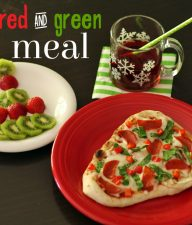 Red and green meal for Christmas fun!