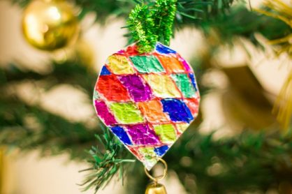 Foil Christmas ornaments-5