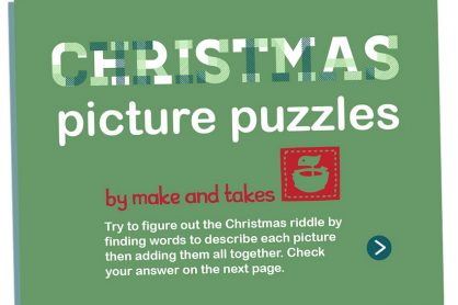 A fun game for Christmas: figure out these picture puzzles.