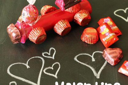 Valentine candy trains