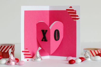 Pop Up Heart Card XO