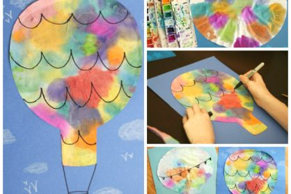Coffee Filter Hot Air Balloons Kids Craft