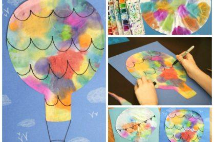 Coffee Filter Hot Air Balloons Kids Craft