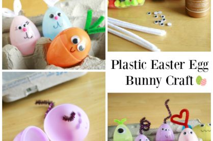 Plastic Easter Egg Bunny Kids Craft