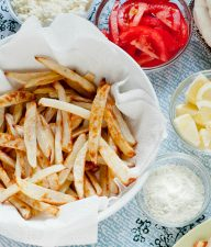 Baked Fries Recipe with Rosemary-Lemon Salt