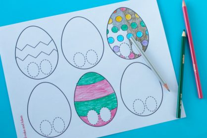 Colorful Easter Egg Finger Puppet Printable