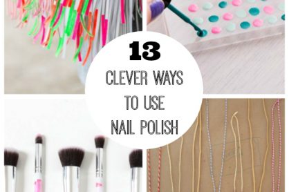 13 Clever Ways To Use Nail Polish