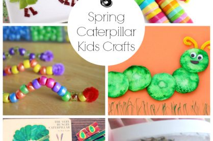 6 Spring Caterpillar Kids Crafts