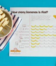 Banana Measuring Graph and Snack Activity