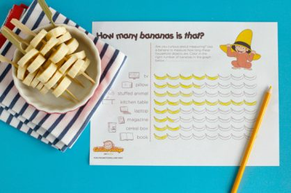 Banana Measuring Graph and Snack Activity