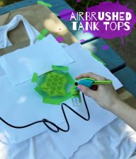 Tween DIY fashion: airbrushed tank tops