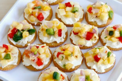 Cream Cheese & Mango Salsa Snacks