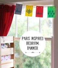 Paris Inspired Tween Bedroom Banner