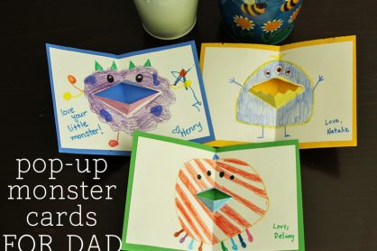 Fun pop-up monster cards for Dad!