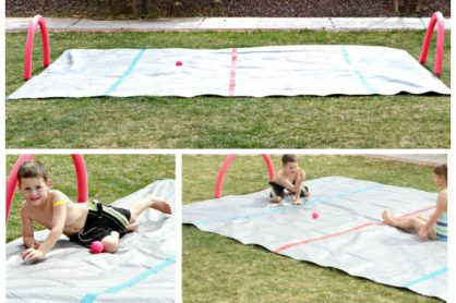 Make an Outdoor DIY Water Hockey Station