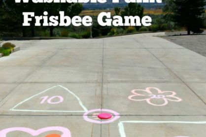Washable Paint Frisbee Game