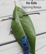 SCIENCE EXPERIMENTS FOR KIDS – EXPLORING RAMPS