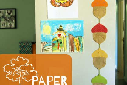 Paper Acorn Garland - Autumn Craft for KIds