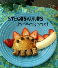 Fun stegosaurus pancake breakfast for kids