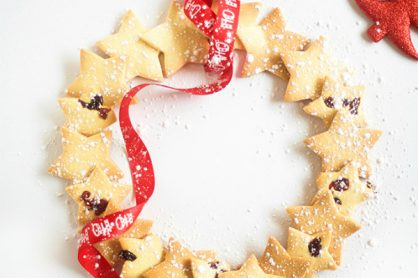 make-a-christmas-shortbread-star-wreath