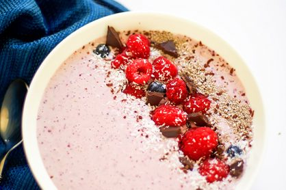 Chia Seed Berry Coconut Smoothie Bowl