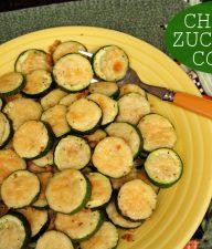Cheesy zucchini coins