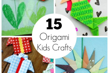 15 Origami Paper Kids Crafts