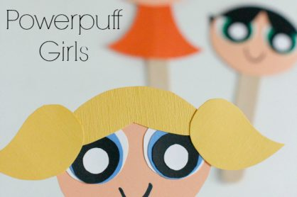 Make The Powerpuff Girls Craft Stick Puppets