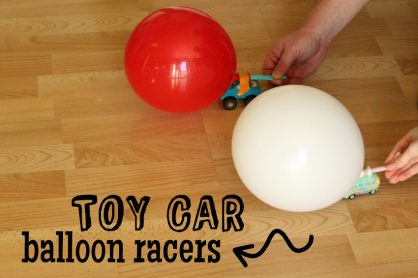 Toy Car Balloon Racers