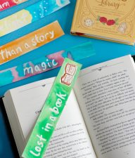 Watercolor Masking Fluid Bookmarks Craft