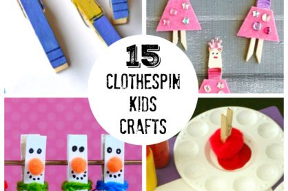 15 Clothespin Crafts for Kids