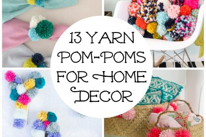 yarn pom pom collage