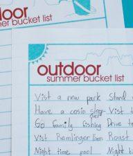 Outdoor Summer Bucket List for Families