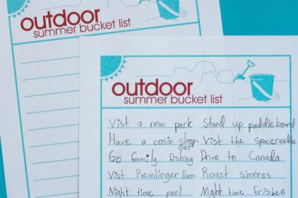 Outdoor Summer Bucket List for Families