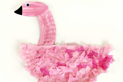 Flamingo Craft for Kids to Paint