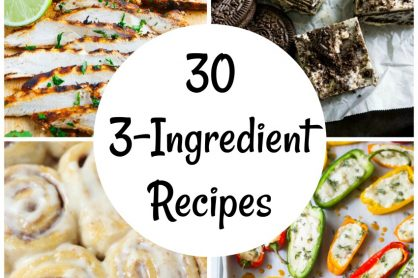 30 recipes with only 3 ingredients