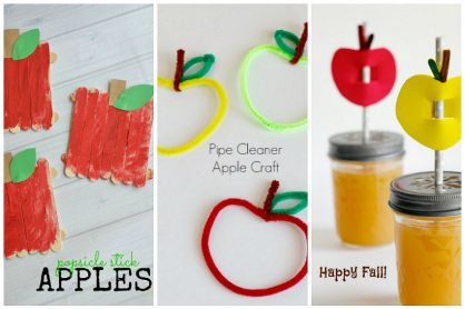 Apple Crafts for Kids to Make