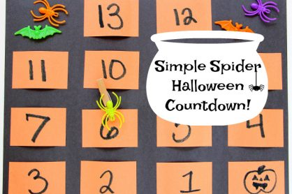 Simple Spider Halloween Countdown