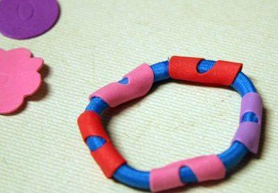 Embellishing Elastic Band Bracelets