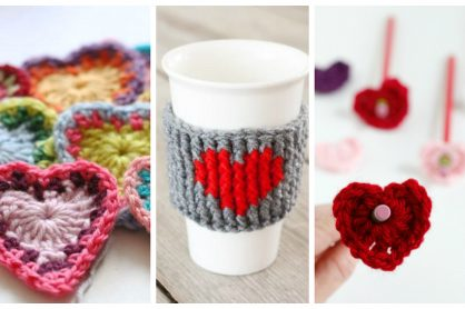 15 Heart Shaped Yarn Projects