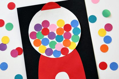 Gumball Machine Craft Paper Project