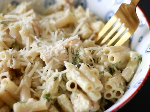Oh So Yummy Chicken Pesto Pasta