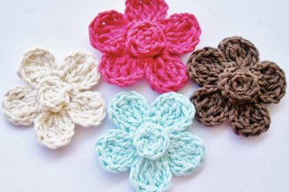 Simple Crochet Flower Pattern